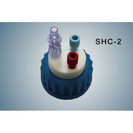 """Smart healthy caps GL45 with 2 outlets (1/8"""")and  1 air check valve (validity:1 year)"""