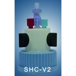 "Smart healthy caps GL45 with 2 outlets (1/8"") with shut-off, 1 air check valve (validity:1 year)"