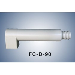 90° Adapter for angled connection with an extension
