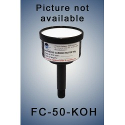 Charcoal cartridge filter (exhaust filter)  50 gramms loaded with KOH for acid vapors (validity: 6 months)