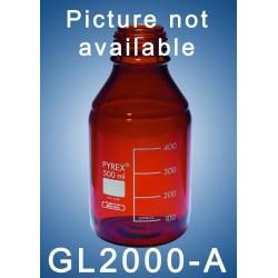 DURAN laboratory bottle GL45  2000 ml ( amber glass)