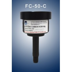 Charcoal cartridge filter (exhaust filter)   50 gramms  (validity: 6 months)with antisplash top
