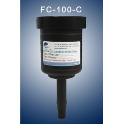 Charcoal cartridge filter (exhaust filter)  100 gramms  (validity : 1 year) with antisplash top