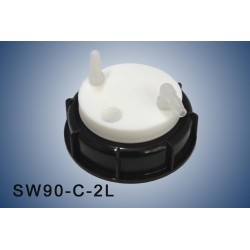 Smart Waste caps  S90 with 1 charcoal cartridge filter emplacement ,  2 tube fittings (6-9 mm)