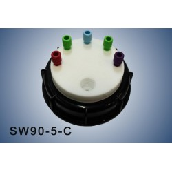 """Smart Waste caps  S90 with 1 charcoal cartridge filter emplacement , 5 entries (1/8"""" or 1/16"""")"""