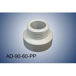 Thread adapter S60 (f) to S90 (m) in polypropylene (PP)
