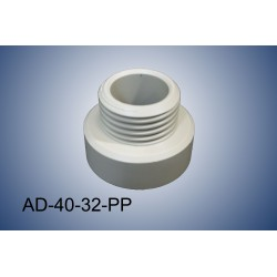Thread adapter GL40 (f) to GL32 (m) in polypropylene (PP)