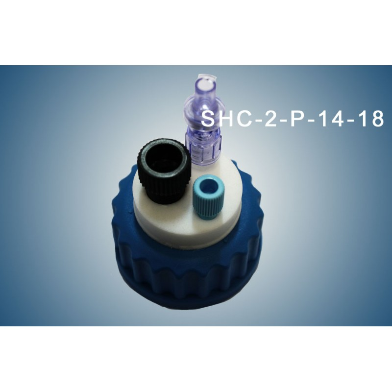 Smart healthy caps GL45 for preparative HPLC with 1 outlet (1/4